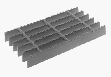 Serrated surface