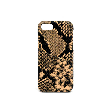 Custom Card Holder Slot Python Leather Phone Case
