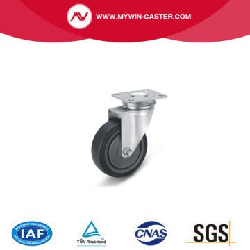 Plate Swivel TPE Institutional Caster