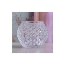 Glass Diamond Cut Tealight Holder