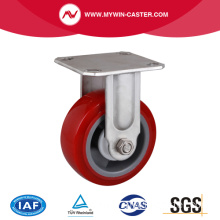 Stainless 5 Inch 250Kg Rigid TPU Caster