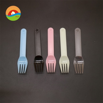 Hot sale wholesale customized plastic birthday use forks