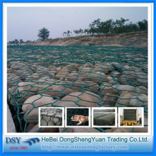 galvanized hexagonal gabion baskets 60x80mm 2.2mm
