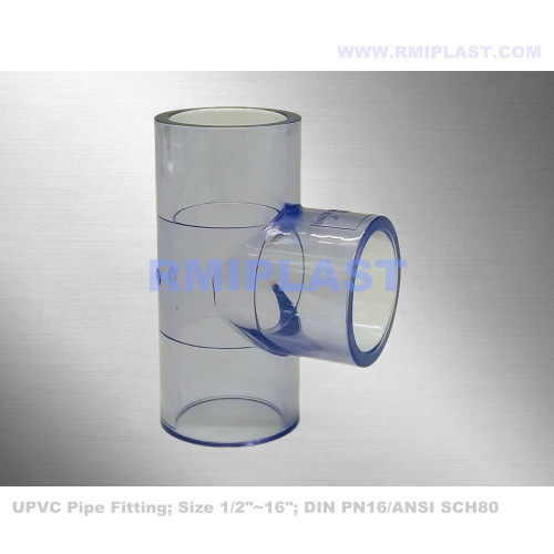 Clear PVC Male Adapter