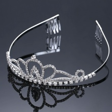 Fast Delivery for Pearl Wedding Tiara Small Heart Princess Wedding Jewelry For Bridal supply to Colombia Factory