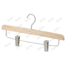 Wooden Laminated Trouser Hanger With Clips