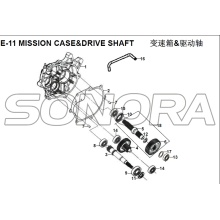 E-11 MISSION CASE&DRIVE SHAFT for XS125T-16A Fiddle III Spare Part Top Quality