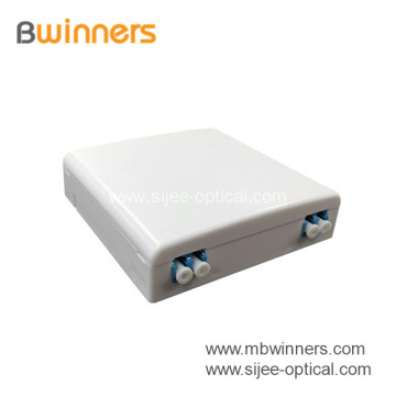 FTTH Mini 2 Ports Fiber Optical Faceplate Socket box