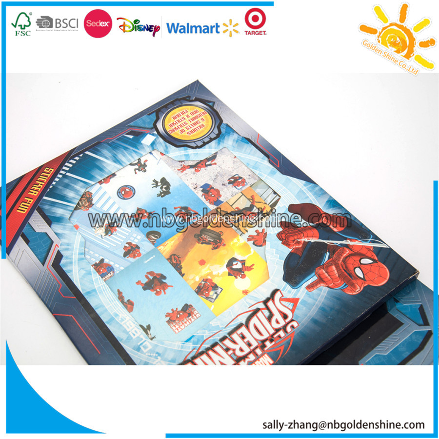 The Spiderman Sticker Box