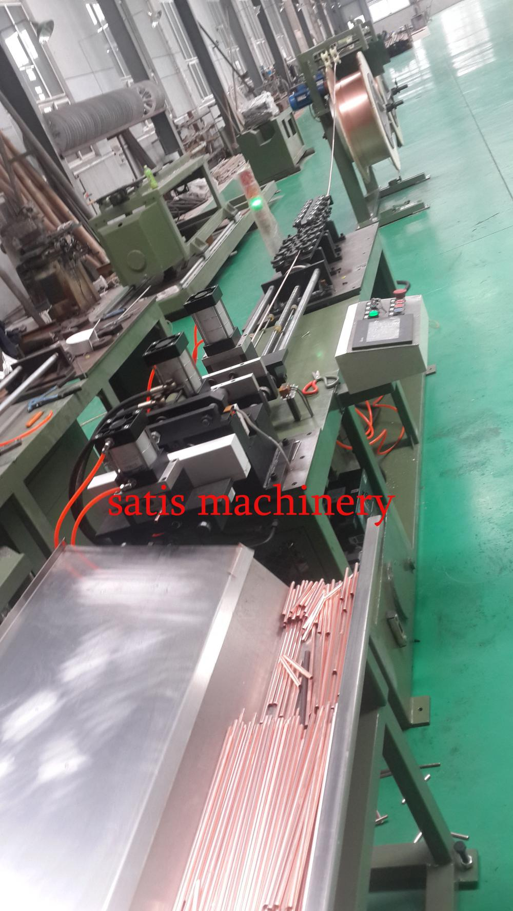 Tube Straightening and Cutting Machine