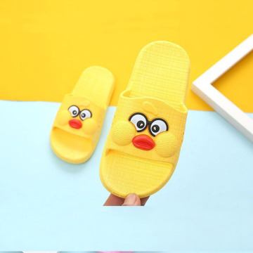 Girls Cute Yellow Pink Non-Slip Beach Slippers
