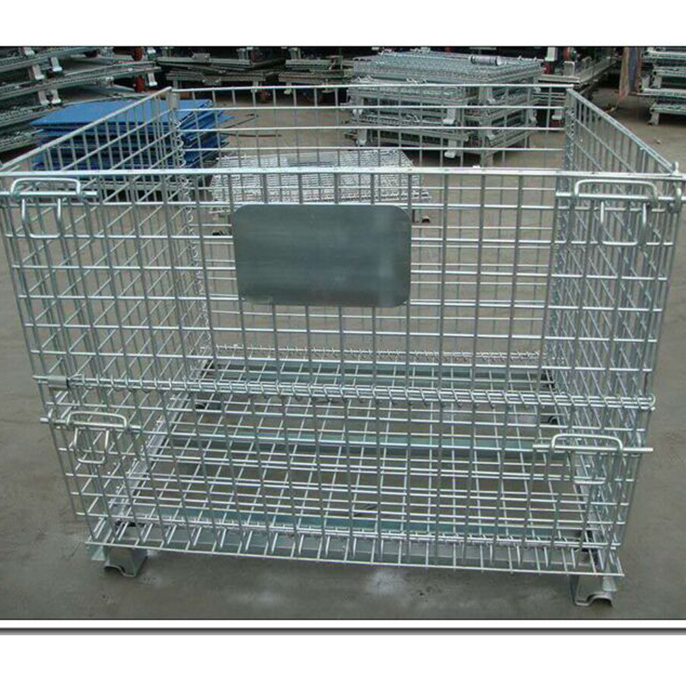 Folding Galvanized Industrial Storage Cage China Manufacturer