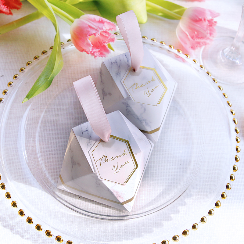 Marble small wedding candy box