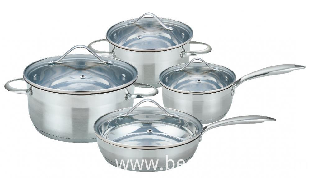 Cookware Set with Solid Handles