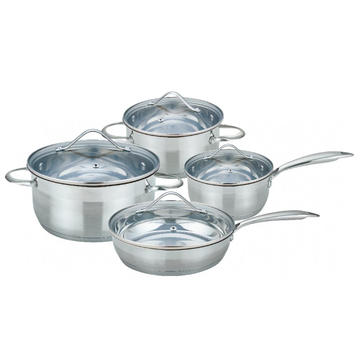 8 Pieces Cookware Set with Glass Lid