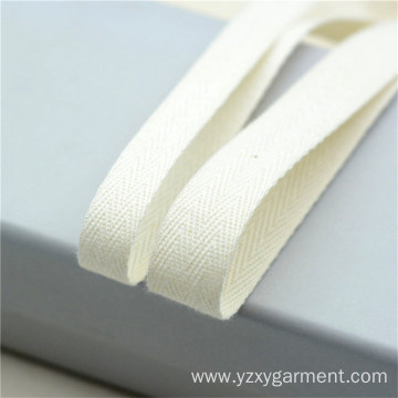 Off white cotton herringbone tape