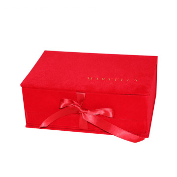 Luxury Red Velvet Gift Drawer Box