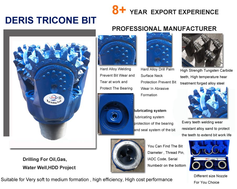 api steel tooth tricone bit