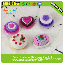 New Arrival Various Mini Cake Food Shaped Erasers At Target