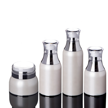 High-grade Korean Pearl White Acrylic Airless Bottles