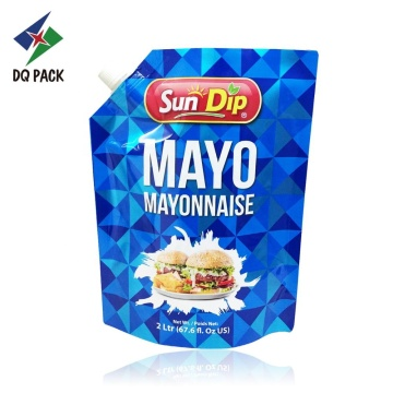Mayonnaise Doypack With Spout Pouch TOP For Filling