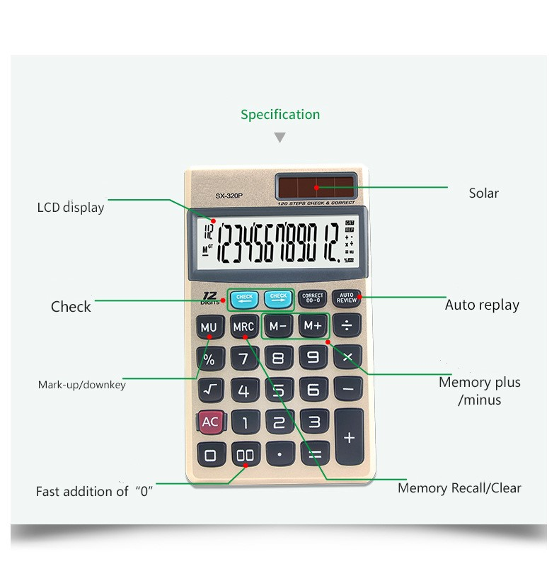 112 steps pocket calculator