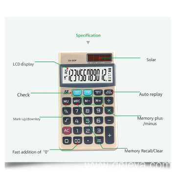 12 digits check pocket calculators