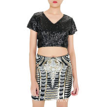 Mini Boutique Sequin Skirt