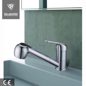 Chrome kitchen sink tap pull out kitchen faucet