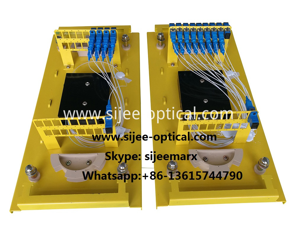Aerial In-Line type fiber optic splitter splice closures