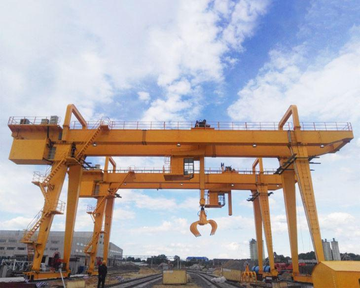 Mg Type Double Girder Gantry Crane With Grab