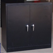 Black office furniture short file storage cabinet