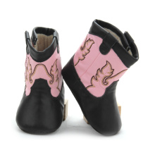 Top for Baby Leather Boots Toddler Shoes Girls Embroidery Baby Leather Boots supply to Germany Factory