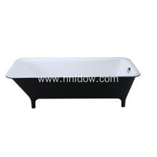 New Fashion Design for Acrylic Freestanding Bathtub Black free standing pure acrylic rectangle bathtub supply to Ecuador Supplier