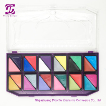 Private label face painting kit with stencil glitter