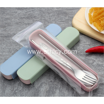 Stainless Steel Flatware Set Fork Spoon and Chopsticks