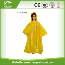 PE Disposable Emergency Rain Poncho for Promotion