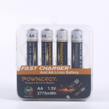 Battery Pack For Flashlight 1.5v AA Lithium Ion