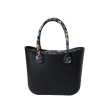 Online Manufacturer for O Bag Classic Classic black PU handles tote O style Bags supply to Portugal Manufacturer