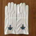 Masonic Glove With Embroidery Patch
