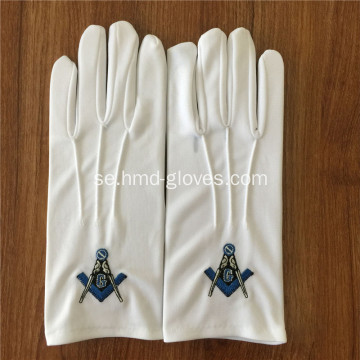 Masonic Glove With Brodery Patch