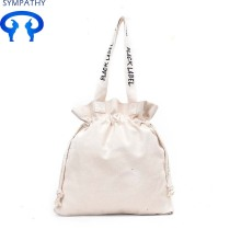Portable tote bag with drawstring shopping bag
