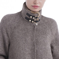 Fashion upright collar cashmere overcoat