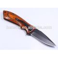 Fast Opening Pakkawood Handle Folding Knife Pocket Knife
