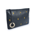 Leather Cosmetic Pouch Women Handbag Clutch Make-up Bags