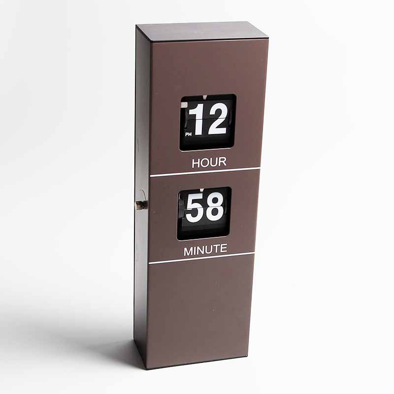 Wall Clock With Brown Color