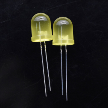 10mm Yellow LED with Diffused Lens 60 Degree
