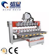 High reputation for Rotary Material Working Machine,3D Wood Art Machine,Cnc Lathe Machine Manufacturer in China 3D Sculpture CNC Router with 8 Heads supply to India Manufacturers