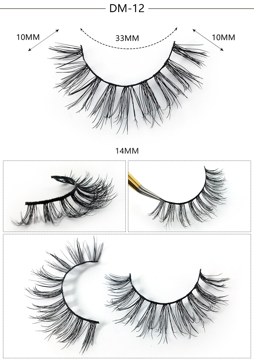 3D mink false eyelashes with luxurious package