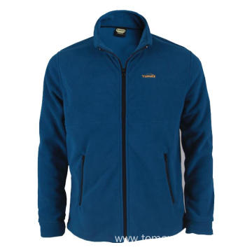 Navy blue 100%polyester Fleece Jacket